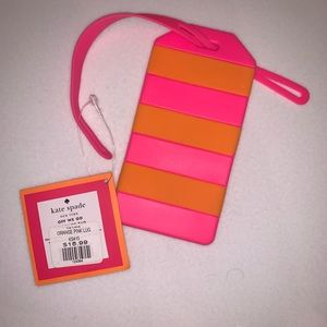 Kate Spade Orange & Pink Luggage Tag
